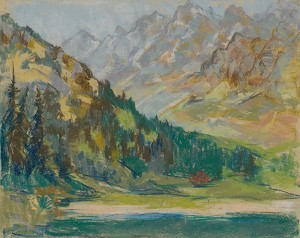 'The Tatras Mountains Motif', 1940, paper on pastel on cardboard, 44,5x56.png