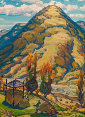 Гора Заподрана, 2016, п.о., 109х88,5