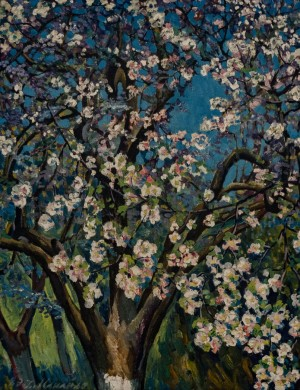 'Blossoming Apple Tree', 1984, oil on canvas