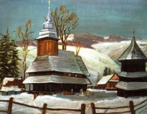 Церква в с. Торунь, 1985, 60х70