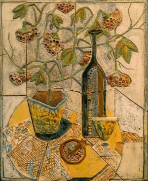 Жолтані Х. Натюрморт, шамот, ангоби та поливка