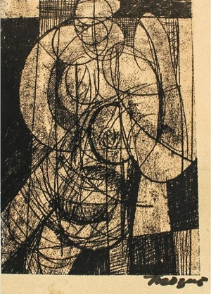 Woman's Figure, 1960, author's technique on canvas, 29,5х21
