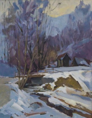 A Stream, 2011, oil on canvas, 70x55