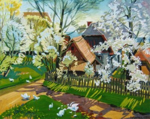 Spring, 1998, gouache, watercolour on paper, 50x60