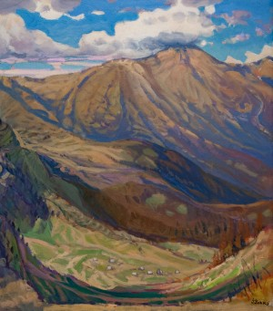 'Hoverla Mountain', 1999, oil on canvas, 88x100