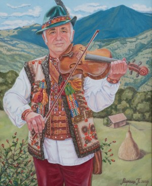 Rakhiv Violinist, 2013, oil on canvas, 65x80