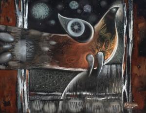 Мирончук-Дідик Н. Пташеня (I), 2013, папір,пастель, 50х65