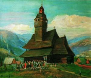 Церква в с. Колодне, 2005, 70х80