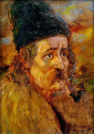 An Old Man With Pipe