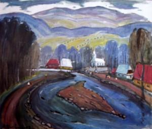 Село на Верховині, 2005, п.о., 70х100