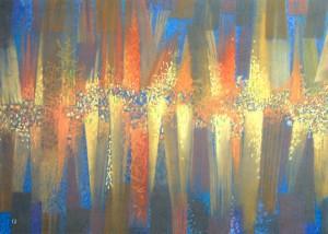 Autumn Fantasy, 2013, paper, pastel, 70x100