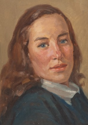 Womans Portrait Halus, 1954, oil on cardboard, 34х24