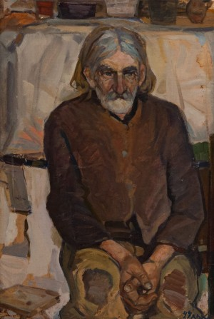 'Uncle Symko', 1965, oil on canvas, 74.5x50