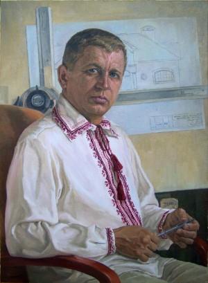 Portrait of An Architect, oil on canvas