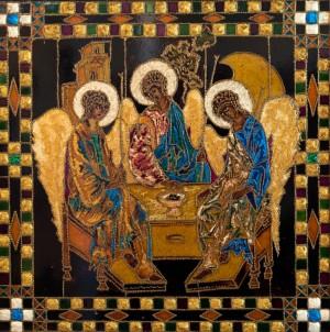 Трійця, 2008, скло, фарби по склу, авт. техн.