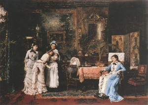 Baby's Visitors 1879 oil on canvas
