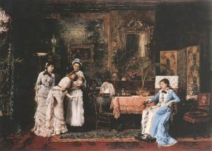 Відвідувачі малюка, 1879 р. п.о.