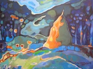 N. Myronchuk-Didyk A tulip,  paper, pastel, 70х50