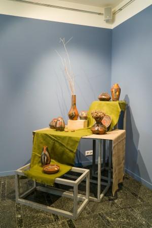 I. Yoltukhovska. A set of decorative vases clay, engobe, glaze