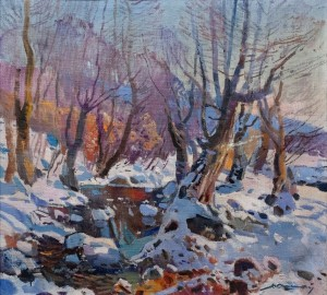 'Winter Stream', 1971, oil on canvas, 75x100