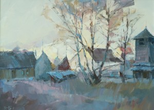 Morning In Huklyvyi Village, 2017, oil on canvas, 60x80