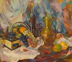 T. Levlias Still Life With Grapes', 2016