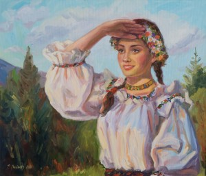 Romanian Girl from Borsa, 2016, oil on canvas, 50x70