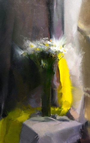 Solo for Yellow 2017oil on canvas 42x66.5.