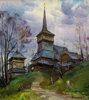 V. Svaliavchyk. The church in Nehrovets village, 2015