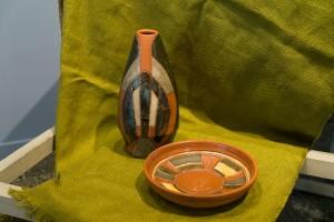 I. Yoltukhovska. A set of decorative vases clay, engobe, glaze (2)