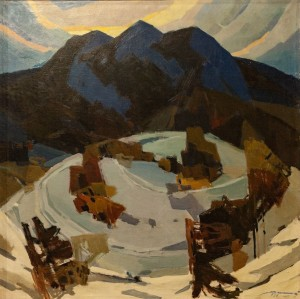 'Winter Evening', 1966, oil on canvas, 100x100