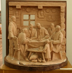Again In My Native Home (Autobiographical Composition), 1977, terracotta, high relief, round sculpture