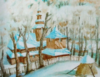 Winter in Podobovets village