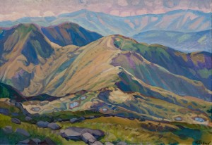 'View From Petros-2', 1999, oil on canvas, 85x120