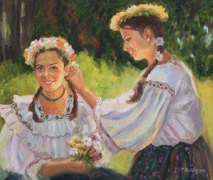 Romanian Girls, 2016, oil on canvas, 50x70