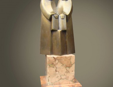 Cyril and Methodius, 2001, bronze, marble, 13,5x7x4,5