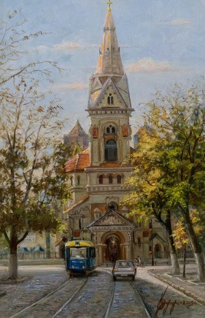 H. Ruff. Lutheran Cathedral of St. Paul. Odesa, 2015, canvas, oil, 60x40