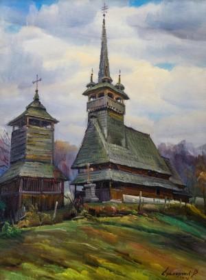 V. Svaliavchyk. The church in Oleksandrivka village, 2006