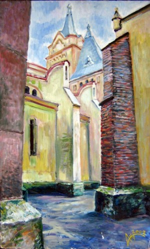 'Cathedral Of St. Martin', 2002, oil on canvas
