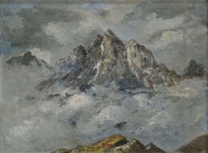 'The Tatras Mountains In Winter', the 1940s, oil on canvas, 58x80.jpg