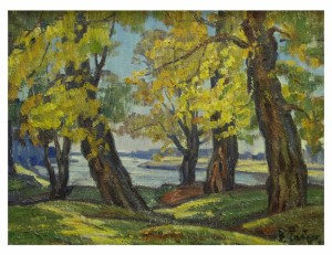 Trees On The Banks Of The River, 1979, oil on canvas, 60x79