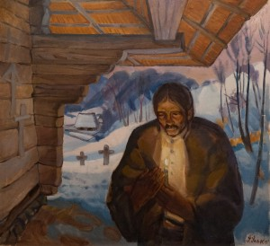 'Evening Prayer', 1999, oil on canvas, 81x88