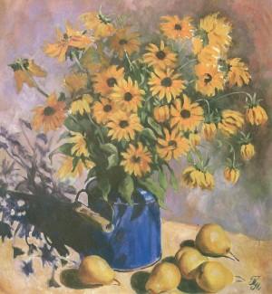 Жовті квіти, 2005, п.о., 50х60