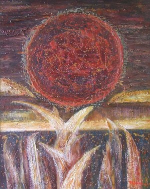 The Red Sun No.1.Diptych, 2013, acrylic on canvas, 120х100
