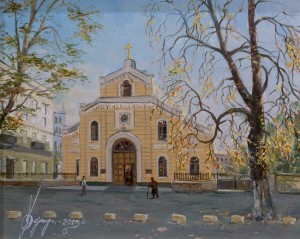 H. Ruff. German Evangelical-Lutheran Church of St. Catherine. Kyiv,2015, canvas, oil, 40x50