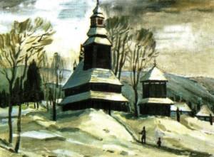Церква святого Духа (ХVІІІ ст.) с.Колочава, 1988, 50х60