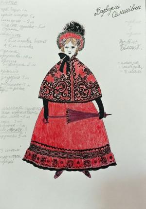 Ескіз костюма 'Турецька шаль', 2015