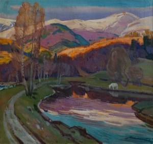 'Sunset', 1977, oil on canvas, 84,5х90