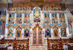Iconostasis of The Holy Protection Church, 1936-1937, wood, carving, gilding