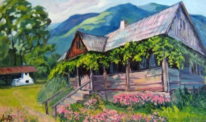 'An Old House', oil on canvas